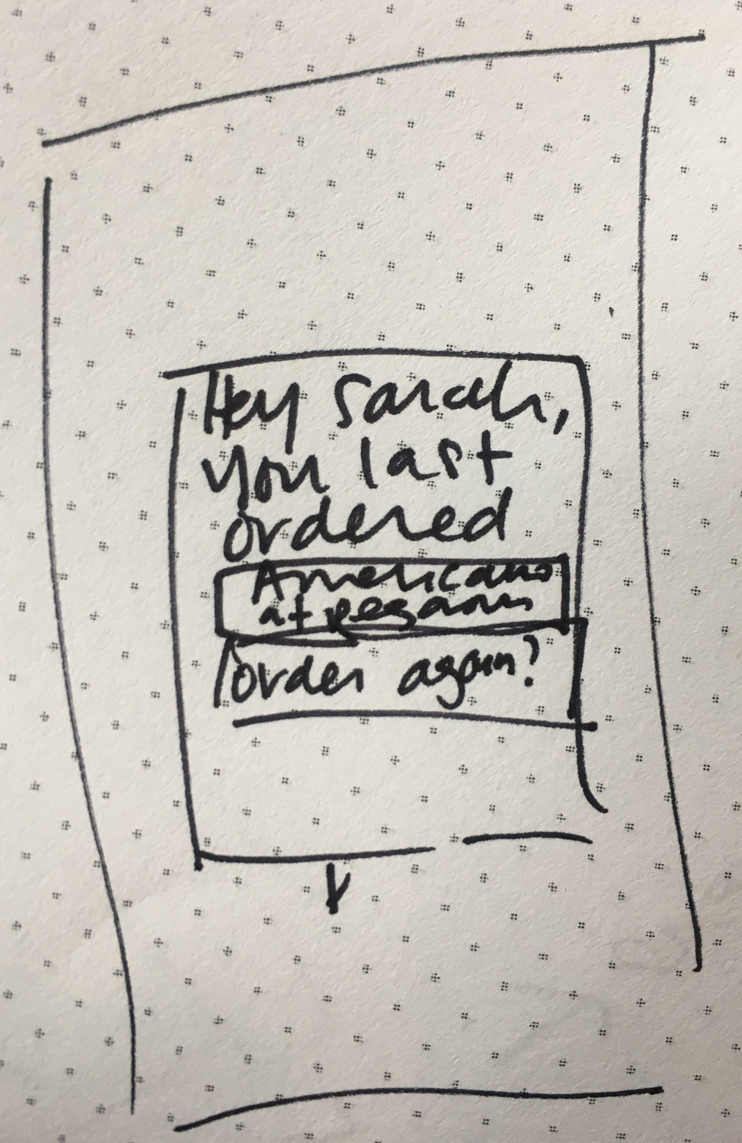 Concept screen: Reorder