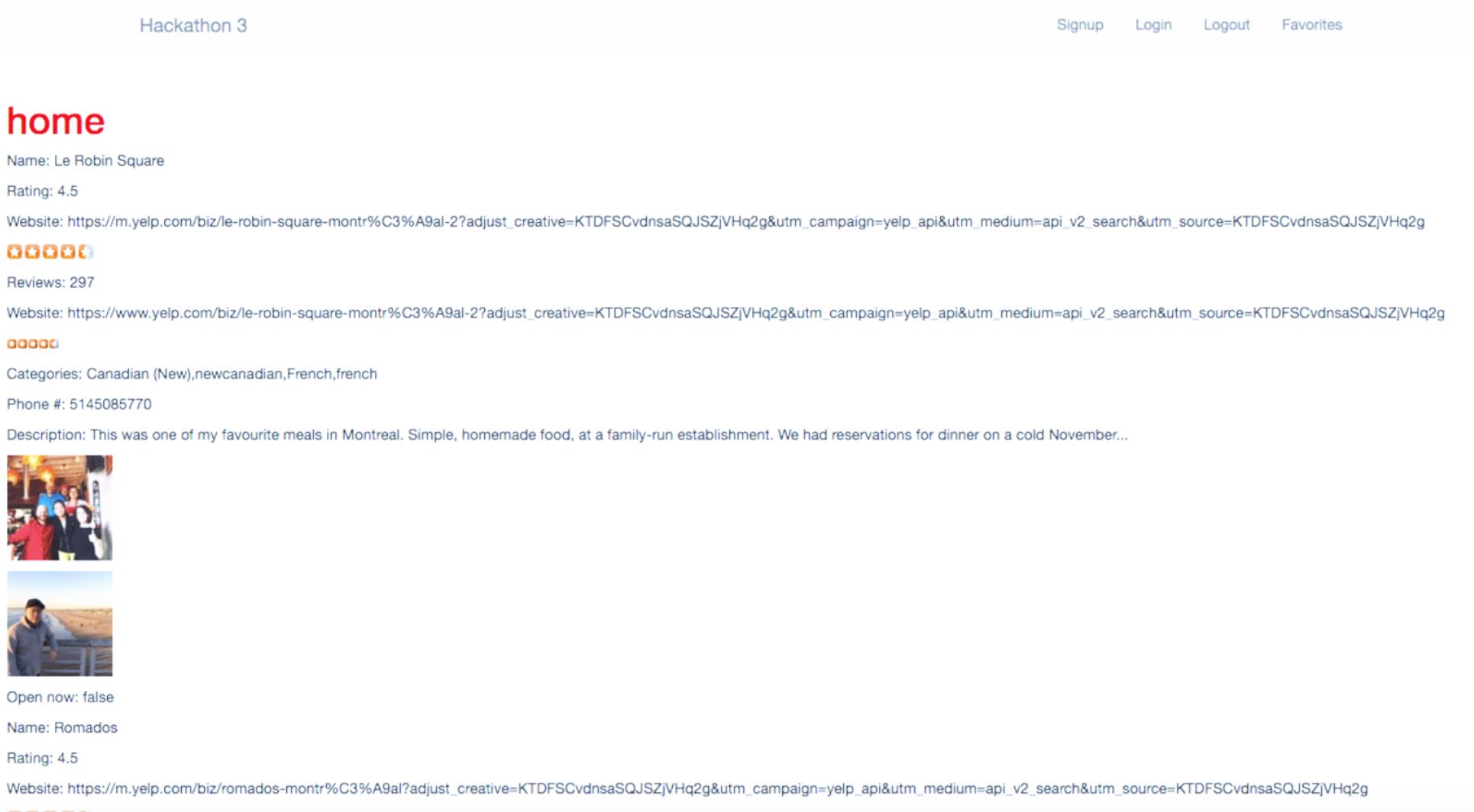 API of Yelp